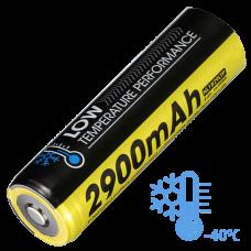 Аккумулятор литиевый Li-Ion 18650 Nitecore NL1829LTP 3.6V (2900mAh, -40°С), защищенный