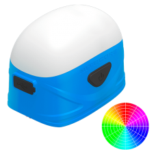 Фонарь кемпинговый Nitecore LA30 (High CRI LED + RED LED, 250+40 люмен, 7 режимов, 2xAA, USB), синий