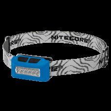 Фонарь налобный Nitecore NU10 (4xLED + RED LED, 160 люмен, 4 режимов, USB), синий